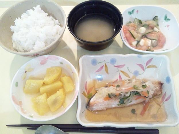 Photos: 1月19日夕食(鮭の焼き南蛮漬け) #病院食
