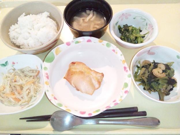 Photos: 1月21日夕食(鶏肉のにんにく醤油焼き) #病院食
