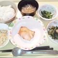 1月21日夕食(鶏肉のにんにく醤油焼き) #病院食