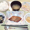 1月22日夕食(鯵の南部焼き) #病院食