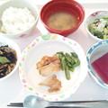1月23日昼食(鶏の柚子胡椒焼き) #病院食