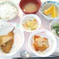 1月26日昼食(アジフライ) #病院食