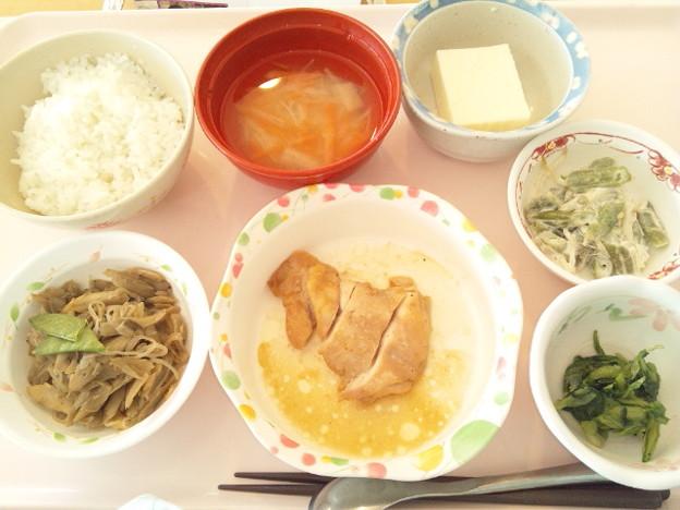 2月13日昼食(鶏の梅焼き) #病院食