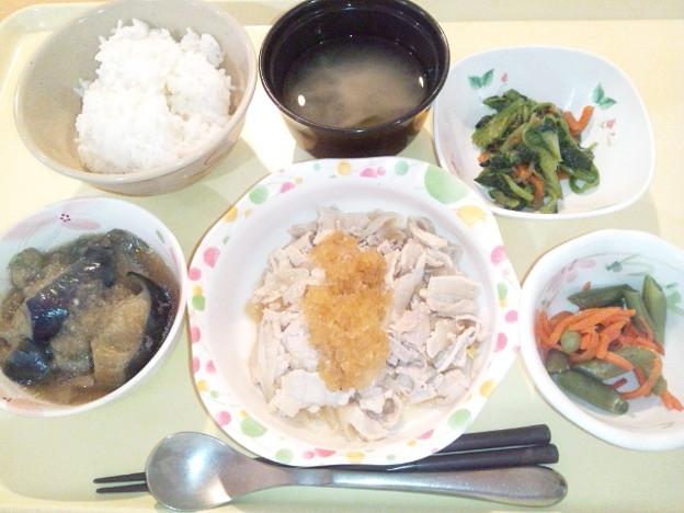 2月14日夕食(豚肉のソテー玉ねぎソース) #病院食