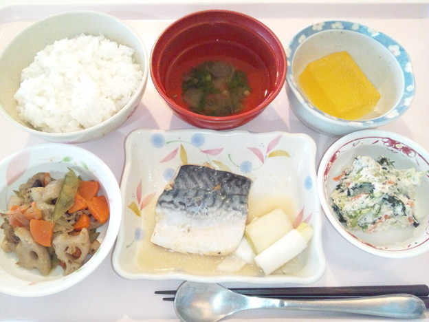 2月16日昼食(鯖の味噌煮) #病院食