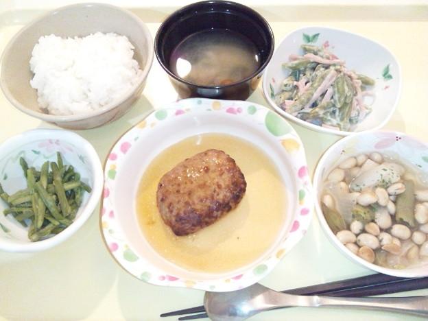 2月16日夕食(和風ハンバーグ) #病院食