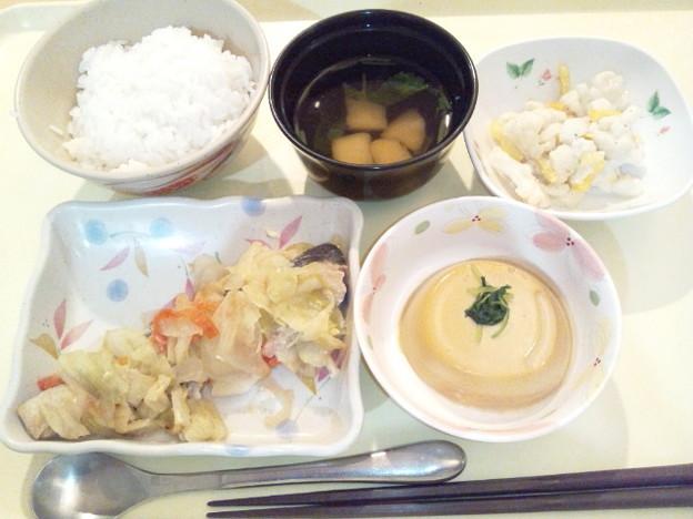 2月17日夕食(鮭のちゃんちゃん焼き) #病院食