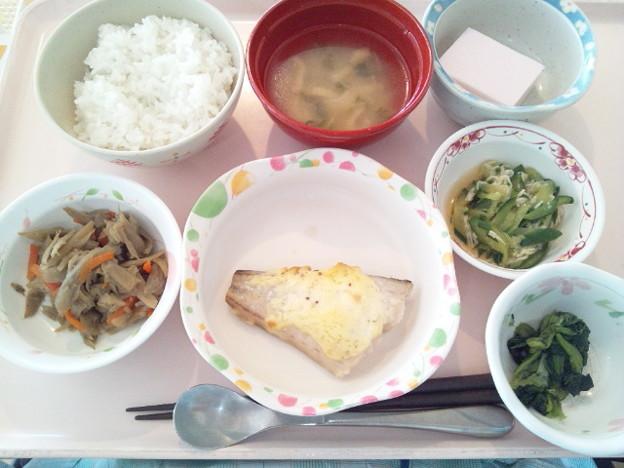 2月18日昼食(鰆のマスタード焼き) #病院食