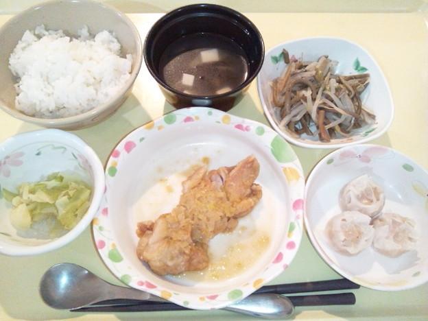 2月18日夕食(油淋鶏) #病院食