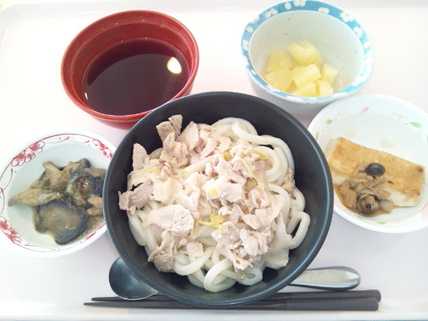 2月19日昼食(肉うどん) #病院食