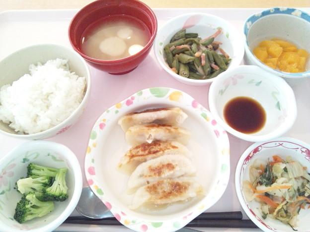 2月20日昼食(手作り焼餃子) #病院食