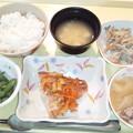 2月23日夕食(赤魚の香り蒸し) #病院食