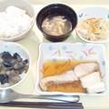 2月25日夕食(めだいの煮付け) #病院食