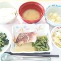 3月30日昼食(めばるの煮付け) #病院食