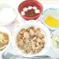 3月31日昼食(鶏肉と蓮根の味噌炒め) #病院食