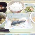 4月2日夕食(鯖の塩焼き) #病院食
