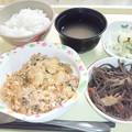 4月3日夕食(豚キムチ) #病院食