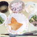 4月6日夕食(白身魚フライ) #病院食