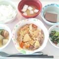 4月7日昼食(牛肉とキャベツの炒め物) #病院食