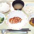 4月8日夕食(鶏肉の七味焼き) #病院食