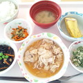 4月9日昼食(豚肉のおろし煮) #病院食