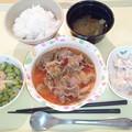 5月26日夕食(牛肉のトマト煮) #病院食