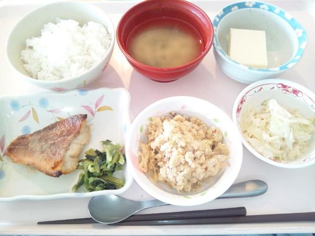 7月6日昼食(赤魚の胡麻だれ焼き) #病院食