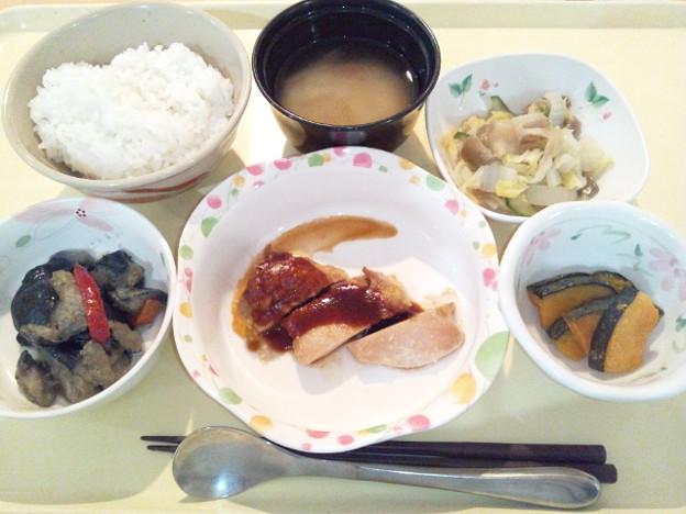 7月6日夕食(鶏のグリル焼き) #病院食