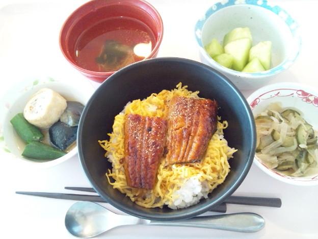 8月3日昼食(うな丼) #病院食