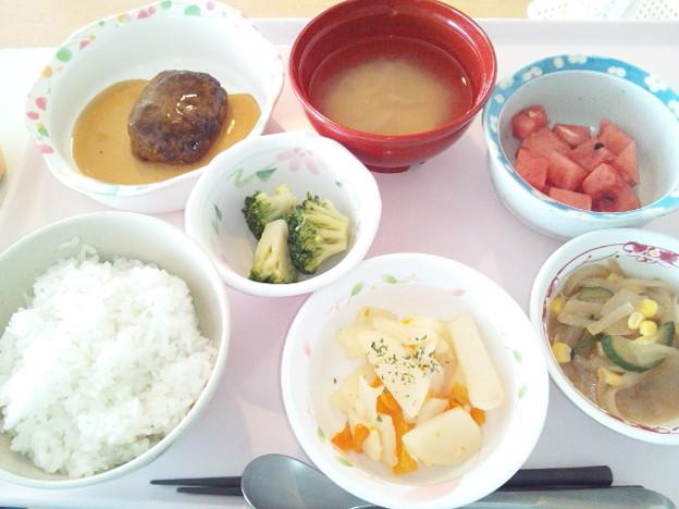 8月5日昼食(和風ハンバーグ) #病院食