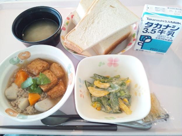 8月6日朝食(厚揚げの煮物) #病院食