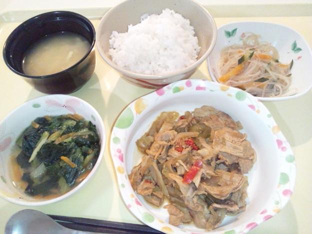 8月6日夕食(回鍋肉) #病院食