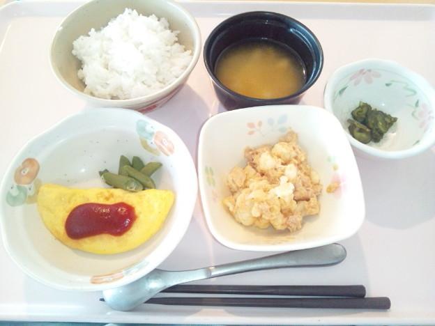 8月9日朝食(オムレツ) #病院食