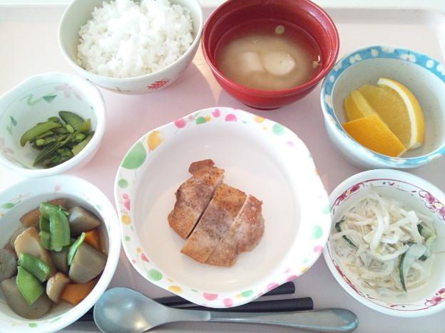 8月9日昼食(鶏の山椒焼き) #病院食