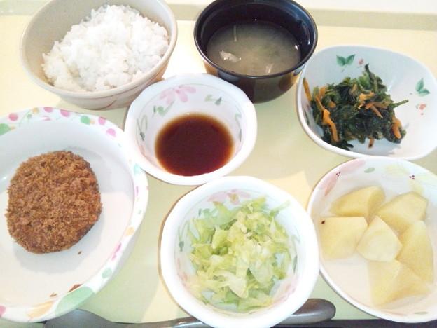 8月9日夕食(メンチカツ) #病院食