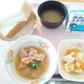 8月12日朝食(鶏肉と冬瓜の煮物) #病院食