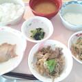 8月13日昼食(鶏の梅焼き) #病院食