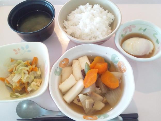 8月14日朝食(はんぺんの煮物) #病院食