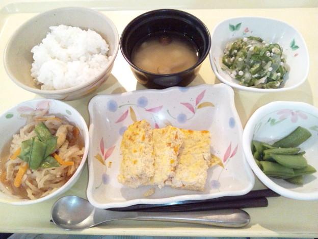 8月14日夕食(五目玉子焼き) #病院食