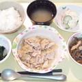 9月18日夕食(豚肉のみぞれ煮) #病院食
