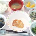 9月19日昼食(鶏肉のにんにく醤油焼き) #病院食
