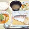 9月19日夕食(鰆の煮付け) #病院食