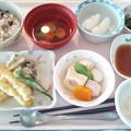 9月21日昼食(天ぷら盛り合わせ) #病院食