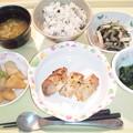 9月21日夕食(鶏の塩麹焼き) #病院食
