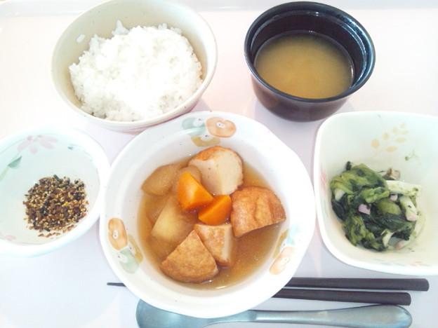 Photos: 9月22日朝食(魚河岸揚げと冬瓜の煮物) #病院食