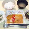 9月22日夕食(鰆の野菜あんかけ) #病院食