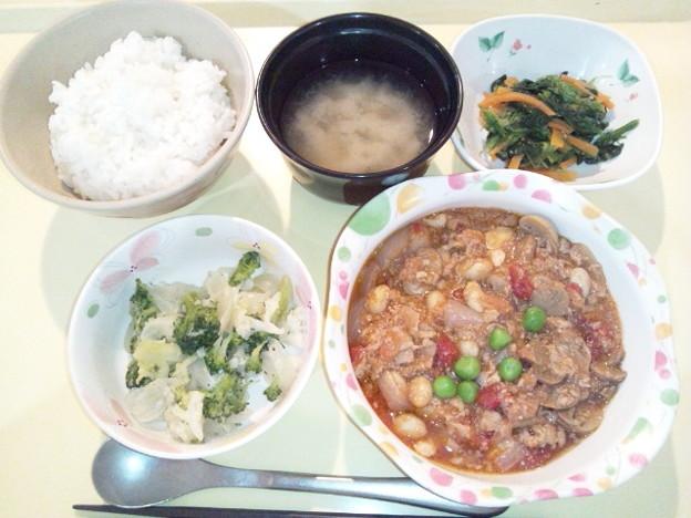 9月23日夕食(牛肉のトマト煮) #病院食