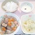 9月25日朝食(ウインナーと野菜のコンソメ煮) #病院食