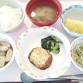 9月25日昼食(ハンバーグのマスタード焼き) #病院食