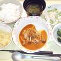 9月25日夕食(鶏のピカタデミソース) #病院食